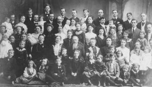 Mormonism founder Joseph Smith, Jr. and his polygamist family