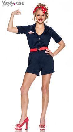 Sexy Rosie the Riveter costume