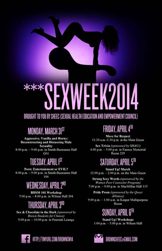 Brown Sex Week 2014 Poster