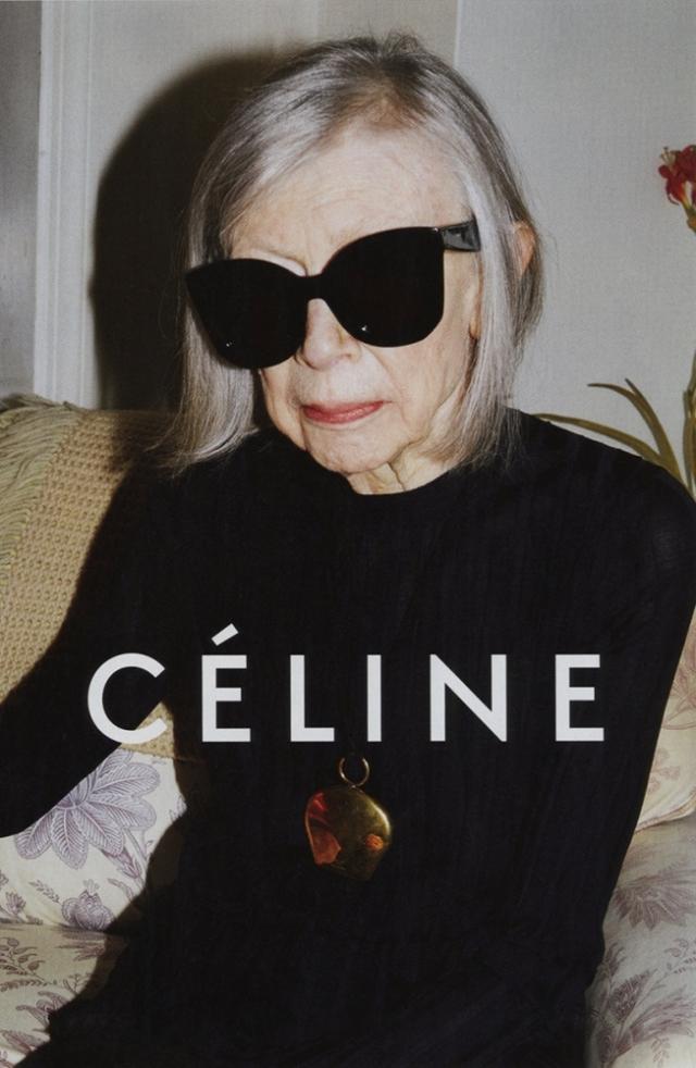 Joan Didion's Celine ad (AdWeek)