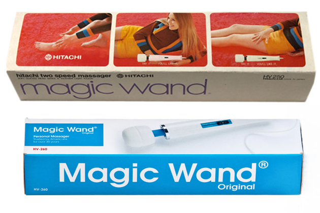 Magic Wand packaging, pre- and post-rebranding (Engadget)