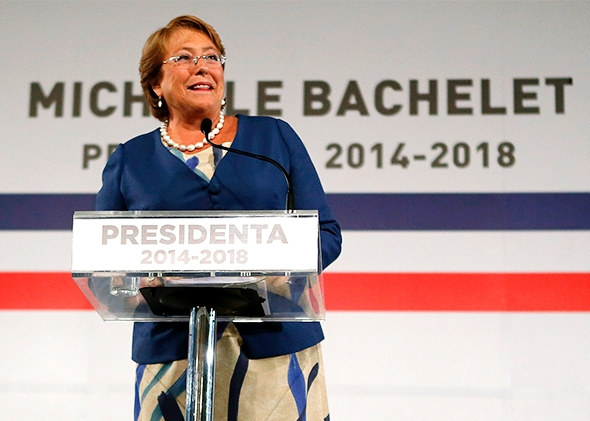Chilean President Michele Bachelet (Slate)