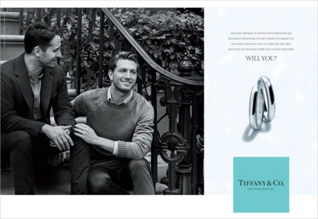 Tiffany's first ad featuring a gay couple (Adweek)