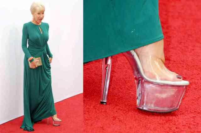 Helen Mirren's stripper shoes (The Cut)