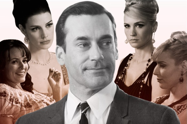 'Mad Men' Don Draper, Midge Daniels, Megan Calvet Draper, Betty Draper, and Dr. Faye Miller (Vulture)