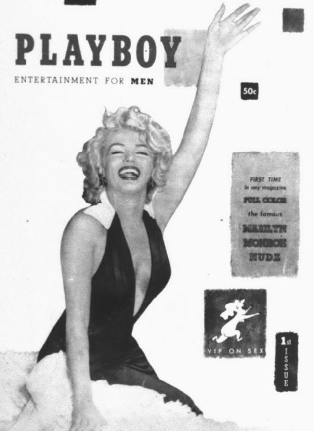 Marilyn Monroe cover for 'Playboy,' Dec. 1953 (NY Daily News)