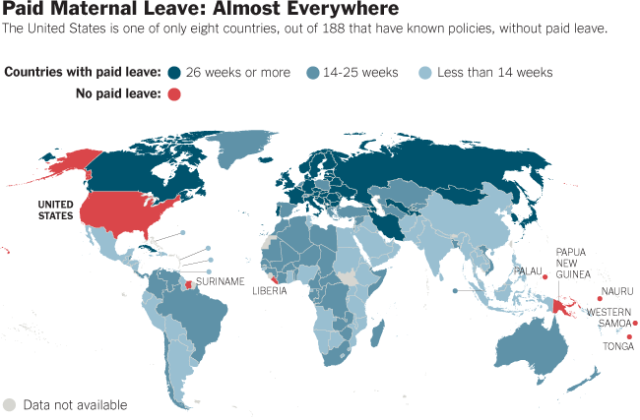 Paid Maternity Leave Around the World (Blogspot)