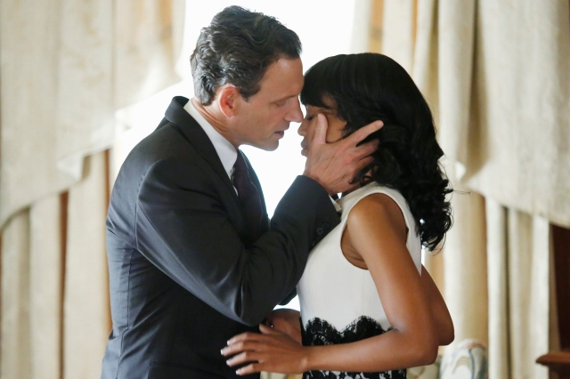 President Fitzgerald Grant (Tony Goldwyn) and Olivia Pope (Kerry Washington) in 'Scandal' (New York Post)