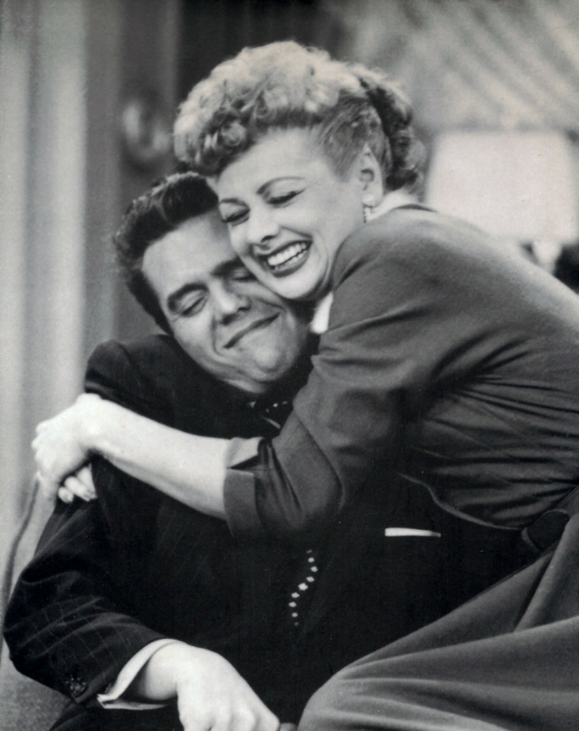 Ricky (Desi Arnaz) and Lucy Ricardo (Lucille Ball) in 'I Love Lucy' (Bestwalle)