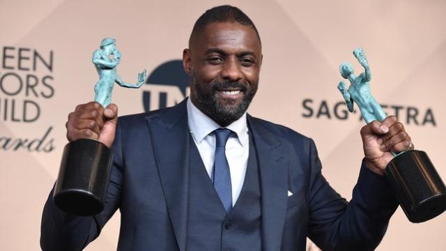 Idris Elba at the 2016 SAG Awards (LA Times)