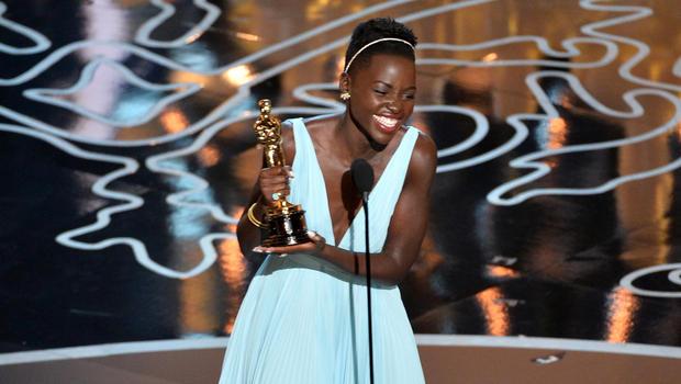 Lupita Nyong'o Oscar acceptance, 2014 (CBS News)