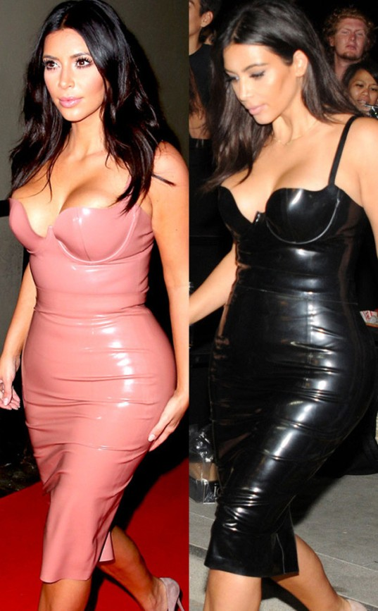 Kim Kardashian's latex dresses (E! Online)