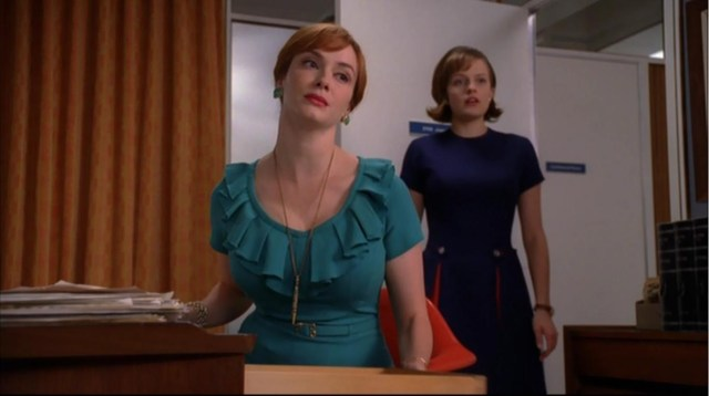 Joan Holloway and Peggy Olsen, 'Mad Men' (Mad Men Wiki)
