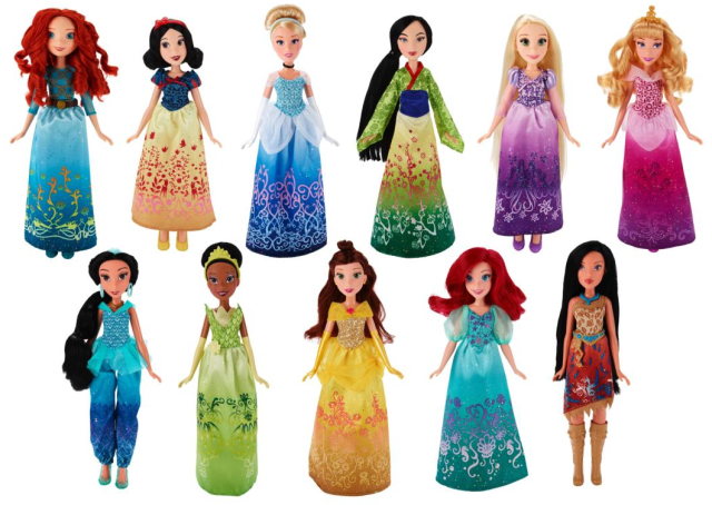 Hasbro's Disney Princess line (Elena's Closet)