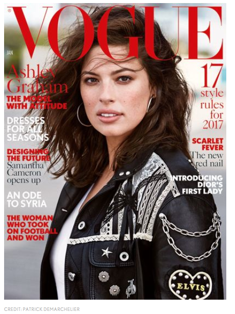 Ashley Graham's January 2017 Vogue U.K. cover (Vogue UK)