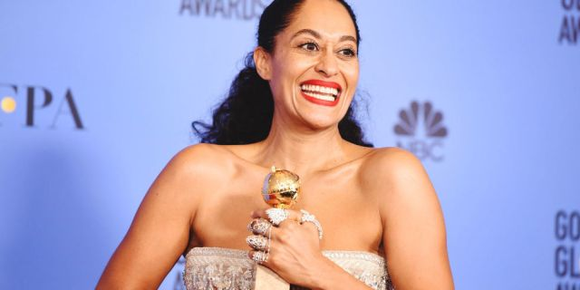 Tracee Ellis Ross, Golden Globes 2017 (Elle)