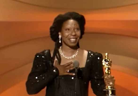 Whoopi Goldberg at the Oscars, 1991 (Leosigh)