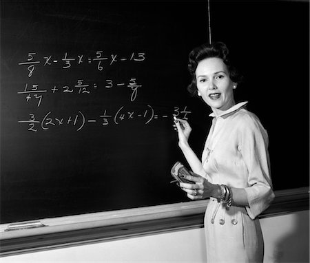 1950s female teacher (Masterfile)