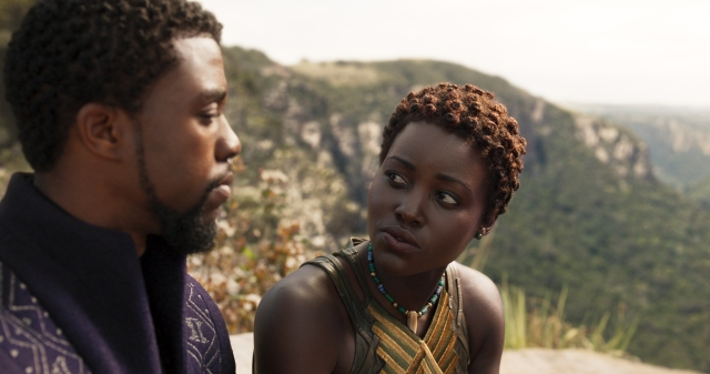 Chadwick Boseman and Lupita Nyong'o in 'Black Panther' (Geeks of Doom)