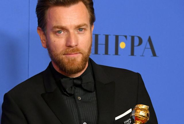Ewan McGregor at the Golden Globe Awards 2018 (iNews UK)