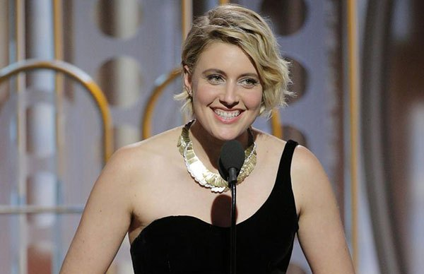 Greta Gerwig at the 2018 Golden Globe Awards (Elk Grove Tribune)
