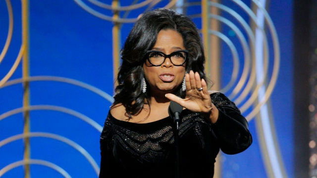 Oprah Winfrey at the 75th Annual Golden Globe Awards (Variety)