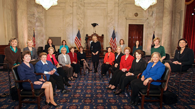 Women senators of the 113th Congress, 2013 (ABC News)